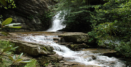 Hanging Rock State Park, lower cascades falls